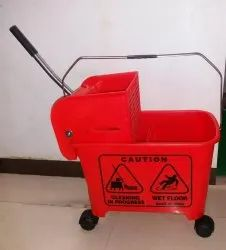 Mop Wringer Trolley Single Bucket