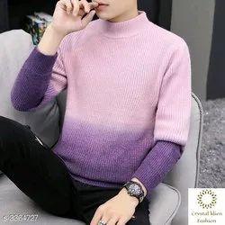Round Neck Full Sleeves Stylish Men''s Sweater