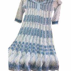 Party Wear 3/4 Sleeve Ladies Georgette Anarkali Suit
