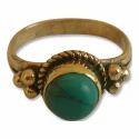 Gemstone Gold Plated Brass Ring