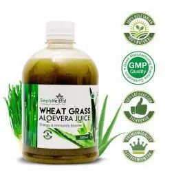 Wheatgrass With Aloe Vera Juice, Packaging: Bottled Packaging