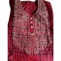 Full Length Embroidered Ladies Designer Cotton Nighty, Free Size