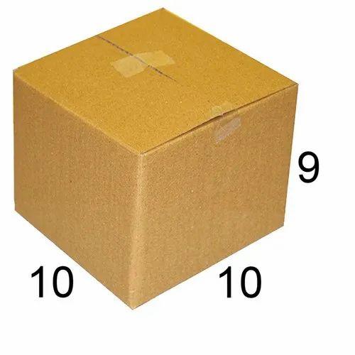 Rectangle Bio-degradable 10 x 10 x 9 inch Corrugated Carton Box