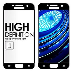 High Quality Tempered Glass 3D Curved Full Cover Series For Samsung A5(Black)(Vmaxtel)