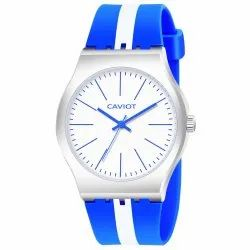 Caviot Blue Round Analog Sports Watch for Boys and Girls - CK001