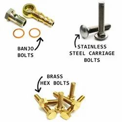 Stainless Steel Carriage Banjo Brass Bolts