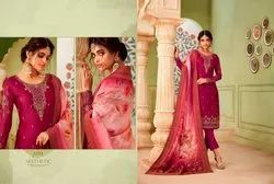 Distinguished Georgette Embroidered Party Wear Salwar Kameez