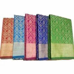 Formal Wear Ladies Border Cotton Saree, Packaging Type: Box, 5.5 m (separate blouse piece)
