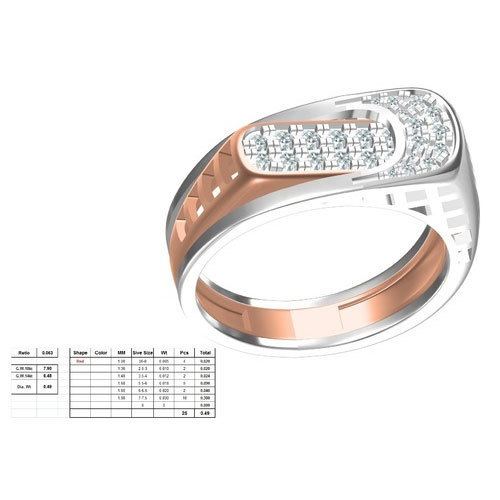Mens Designer Diamond Ring