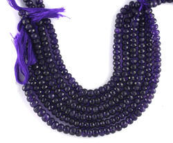 Amethyst Roundel Faceted Beads