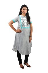 Grey Kurti Inspired By Escape-o-Nature