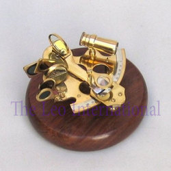 Nautical Gifts Brass Sextant With Wooden Base