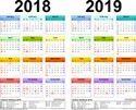 Printed Year Calendar