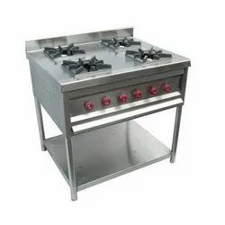 Commercial SS Four Burner Range