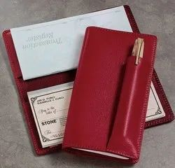 Red Checkbook Cover