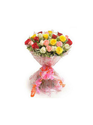 Bunch Of 20 Mix Roses Packed With Cellaphin Sheet