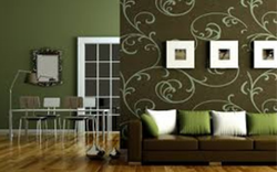 Green Glossy Wall Painting, for Decoration