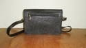Black Leather Shoulder Bag - Women's