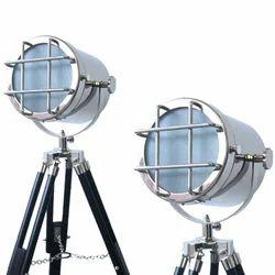 Spotlight Retro Focus Vintage Nautical Floor Lamp
