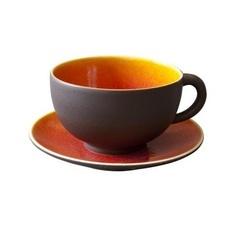 Ceramic Matte Finish Cup and Saucer