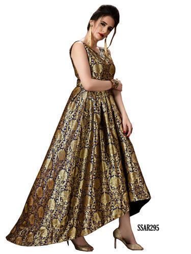 Traditional Fashion Designer Ethnic Golden Color Gown, Rs 3860 ...