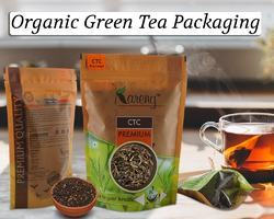 Organic Green Tea Packaging Printed Pouches