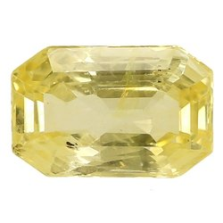 Clean Octagon - Cut Natural Ceylon Yellow Sapphire