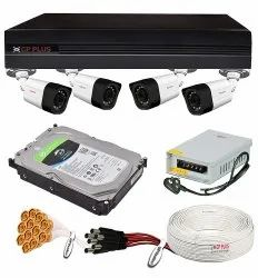 CP Plus 2.4MP 4 Camera Combo Set with 4Ch Latest H.265 1080P DVR, 4 Bullet Cameras