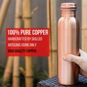 Plain Screw Cap Matt Finish Pure Copper Water Bottle Leak-proof 1000 Ml