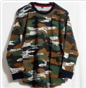 Full Sleeves Military Pattern T Shirt