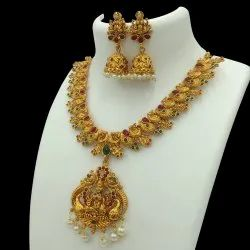 Antique Gold Plated Jewellery Set - D 5023 ANT