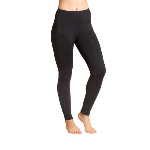 Black Polyester Ladies Black Legging