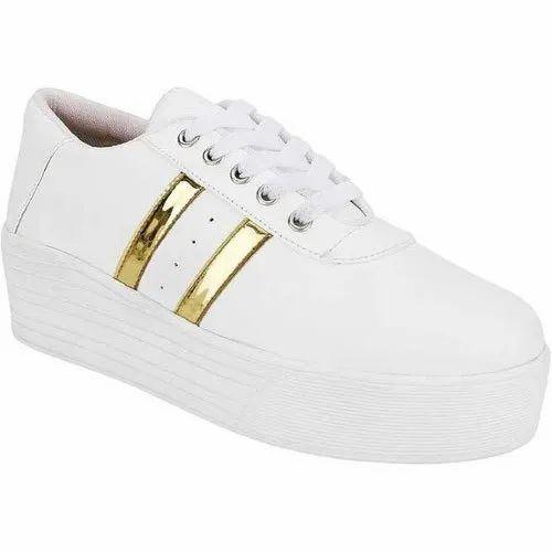 Long Walk Women Trendy White Sneakers