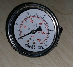 Mini Sanitary Pressure Gauge for Sanitizing Chambers