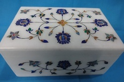 Marble Inlay Box Shape Rectangular
