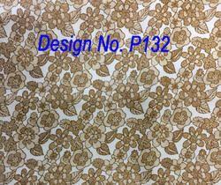 Metallic Printed Fabric P132
