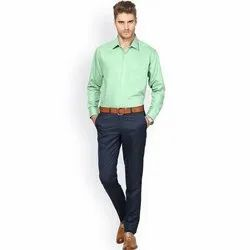 Mens Green Cotton Shirt