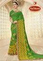 Printed Green Georgette Saree - Hariyali