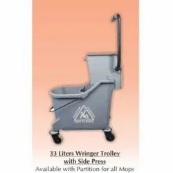 33 L Single Bucket Wringer Trolley