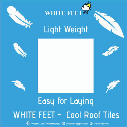 Gloss Lime White Feet Reflective Cool Roof Tiles Size