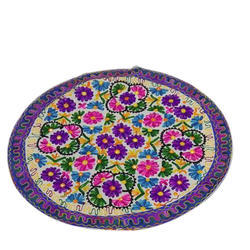 Multicolor Embroidered Table Cover