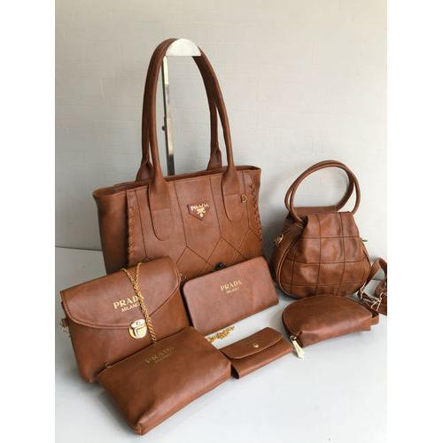 ba77fbceaaaf Prada Milano Brown Ladies Hand Bag Set, Rs 900 /piece, Sultan Bag ...