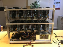 12 GPU Mining Rig For Cryptocurrency Mining, 12gpu-rig-vtech