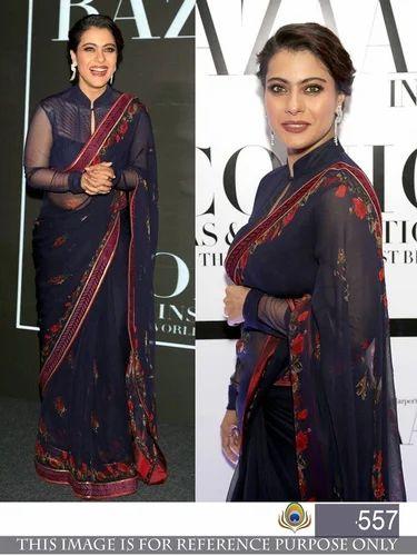 Casual Wear And Wedding Wear Silk Bollywood Chiffon Saree With