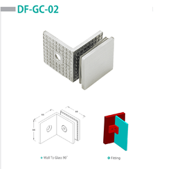 DF-GC-02 Wall To Glass Connector