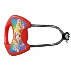 SS and Plastic Red Kids Bicycle Backrest