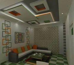Living Room Ceiling Design, Work Provided: False Ceiling/POP