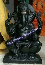 Black  Marble Ganesh Statue