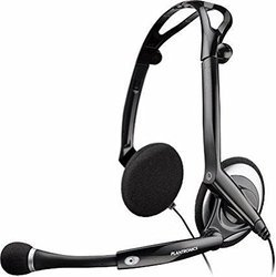 Black Plantronics Audio 400 DSP Wired Headset