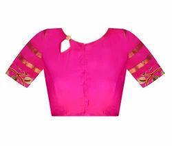48b376333518b Collar Neck South Cotton Nizam Border Applique Work Readymade Blouse ...
